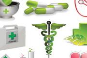 常用医疗用品矢量图标素材