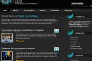 黑色网络技术div+css网页模板