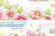 5款春天花卉矢量素材图片