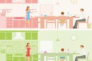 家居生活插画矢量素材