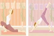瑜伽运动女性矢量素材