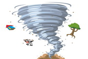 卡通龙卷风矢量图