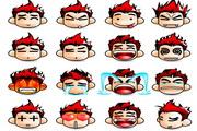 可爱QQ表情矢量图
