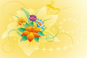 可爱花朵矢量图