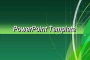 绿色科幻线条PPT模板