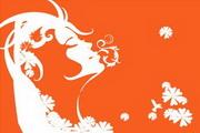 女性头像与花纹素材7
