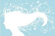 女性头像与花纹素材8