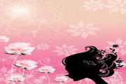 女性头像与花纹素材13