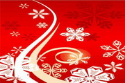 时尚冬季花纹背景素材4