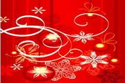 时尚冬季花纹背景素材7