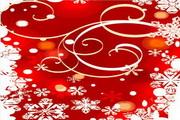 时尚冬季花纹背景素材9