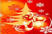 时尚冬季花纹背景素材17