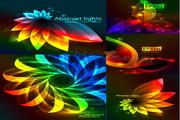 矢量绚丽叶子造型光斑素材