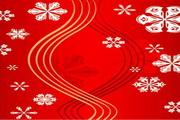 时尚冬季花纹背景素材18