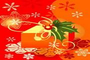 时尚冬季花纹背景素材29