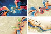 矢量动感音符抽象艺术图素材