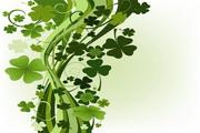 绿色植物花藤矢量图
