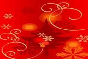 时尚冬季花纹背景素材31
