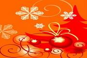 时尚冬季花纹背景素材32