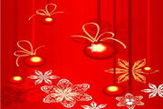 时尚冬季花纹背景素材33