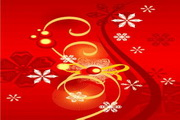 时尚冬季花纹背景素材34