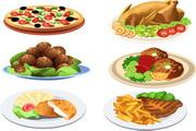 西式食物矢量图