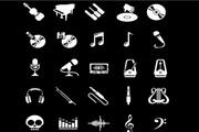 音频形状图标PSD免费素材