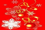 时尚冬季花纹背景素材37