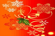 时尚冬季花纹背景素材39