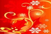 时尚冬季花纹背景素材40