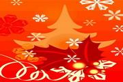 时尚冬季花纹背景素材42