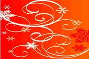 时尚冬季花纹背景素材43