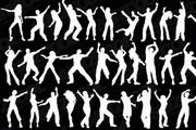 人物跳舞动作矢量图