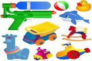 多款儿童玩具矢量素材
