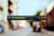 视频播放器PSD设计素材