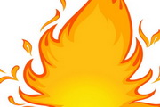 卡通火焰燃烧矢量素材