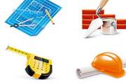 施工用具矢量建筑素材