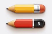 铅笔PSD免费素材...
