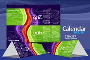矢量2012台历效果图素材