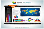 矢量商务网站模板
