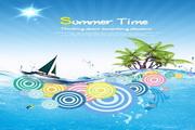 夏季时光PSD海报设计模板