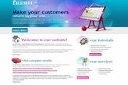 国外网站PSD模板...
