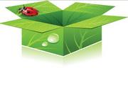 矢量绿色环保箱素材