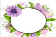 浪漫花卉卡片矢量素材