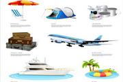 旅游度假系列矢量图