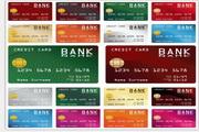 矢量银行卡模板素材