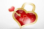 情人节心锁矢量素材