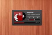 可爱的小音乐播放器PSD