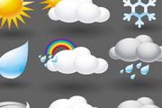 卡通天气图标矢量素材01