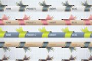 精致网页导航矢量素材2